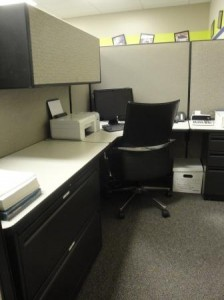 Cubicle ready to be occupied
