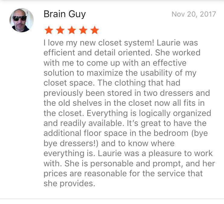 5 star review from client
