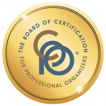 Certified Professional Organizer from the BCPO